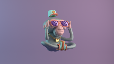 design 3d illustration character digital art yoga hip hop monkey glasses gold purple renegadesofphong mizaru mystic ape render