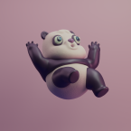 3d panda renegades of phong digital art character