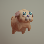 3d renegades of phong digital art character pug dog