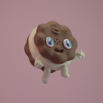 3d cookie renegades of phong digital art character design illustration render kawaii
