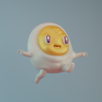 3d egg renegades of phong digital art character design illustration