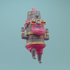 3d renegades of phong digital art character tiki